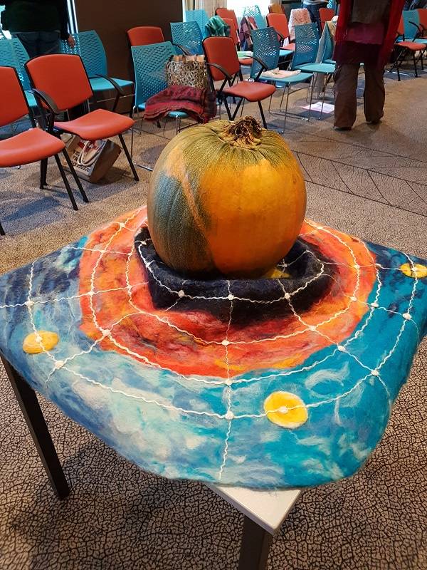 Mother Pumpkin standing in for Mother Earth